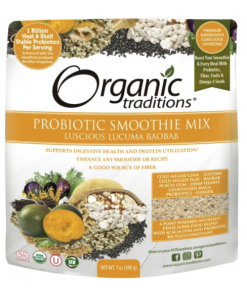 Mélange smoothie probiotique lucuma baobab Organic Traditions | Biologik